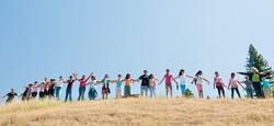 Children Circle on Hill