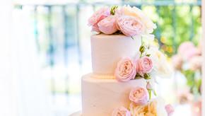 Blumen Hochzeitstorte