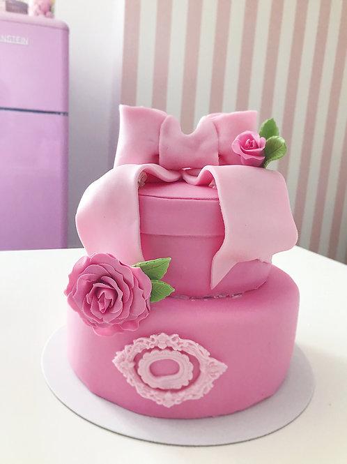 Rosa Geschenkbox