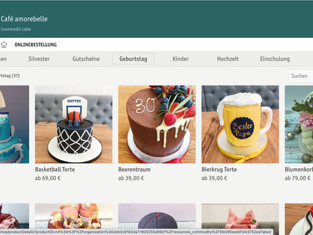 Café amorebelle Online-Shop 24/7 für euch da