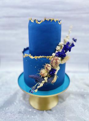 Blue Vintage Hochzeitstorte