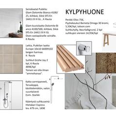 Kylpyhuoneen suunnitelmaa