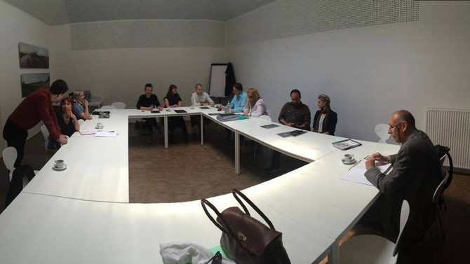 Meeting with all the city officials for a new cultural Euregional connection @ C-mine