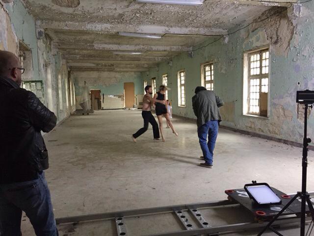 Shooting video-clip for Aurelie
