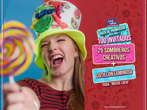 """Pack """"Noche Loca!"""" Sombreros + Cotillón"""