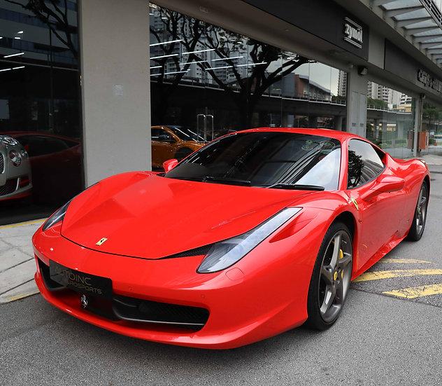 2012 Aug Ferrari 458 Italia Coupe
