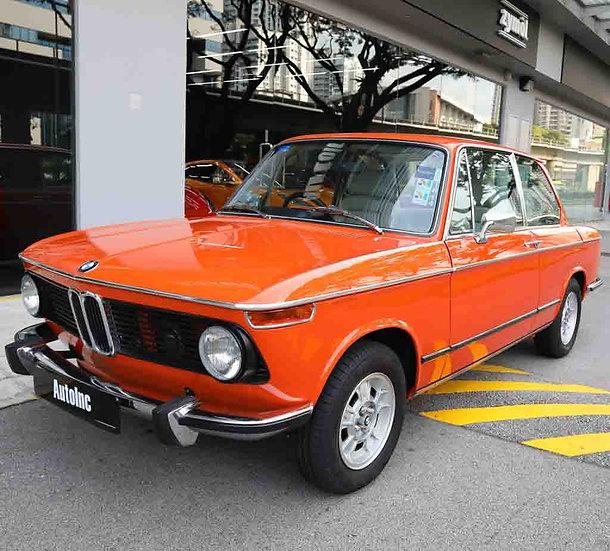 1973 Dec BMW 2002tii (NEW 10-YEAR COE)