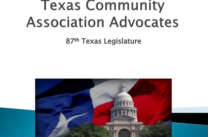 TCAA Minute: Check out the changes from Senate Bill 1588 for HOAs/POAs.