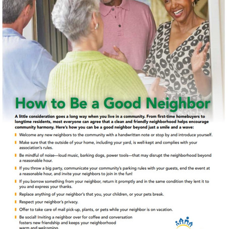 Easy Ways to Be a Good Neighbor