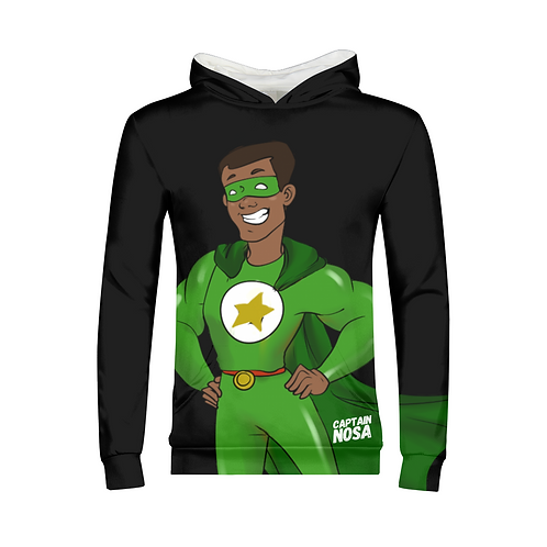Kids Long-Sleeved Hoodie Captain Nosa