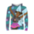 Kids hoodie - African print - front.png