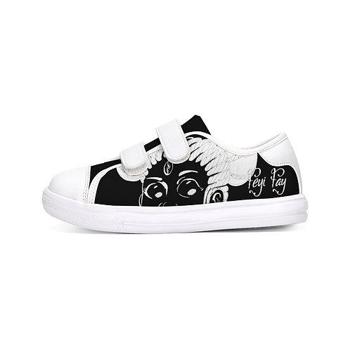 Kids Velcro Sneaker - Black & White