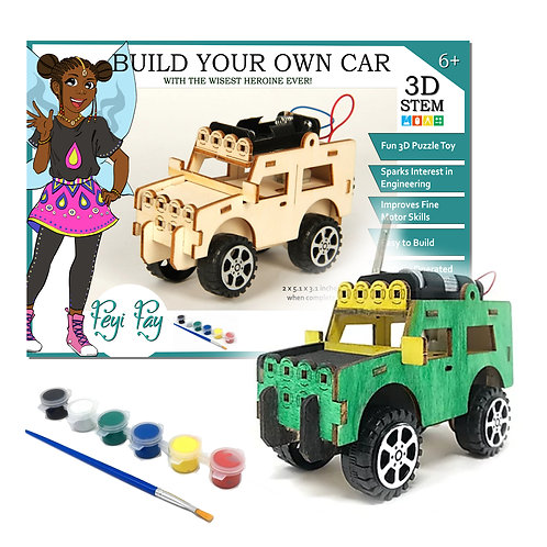Build Your Own Car That Drives! - Feyi Fay - 3D STEM Puzzle Toy