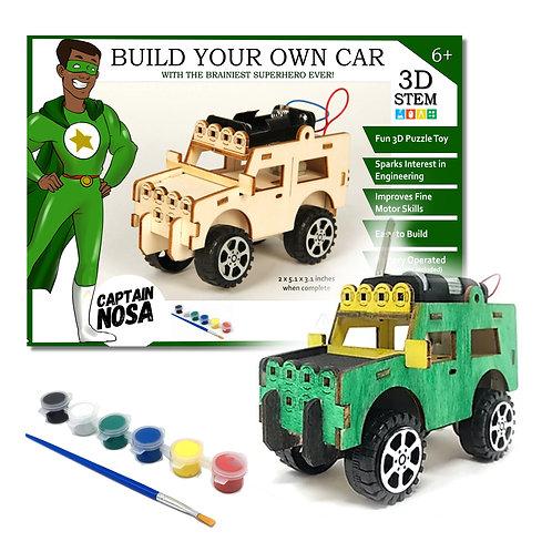 Build Your Own Car That Drives! - 3D STEM Puzzle Toy