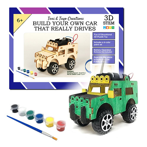 Build Your Own Car - 3D STEM Puzzle Toy