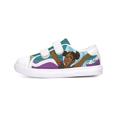 Kids Velcro Sneaker - Colorful Stripes