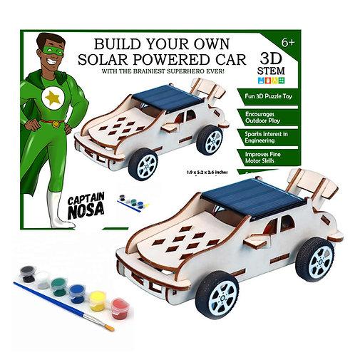 Build Your Own Solar Powered Car - 3D STEM Puzzle Toy - Captain Nosa