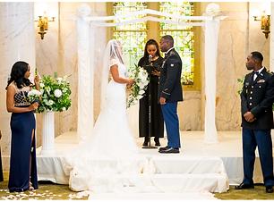 Trina Goffe Officiates a wedding
