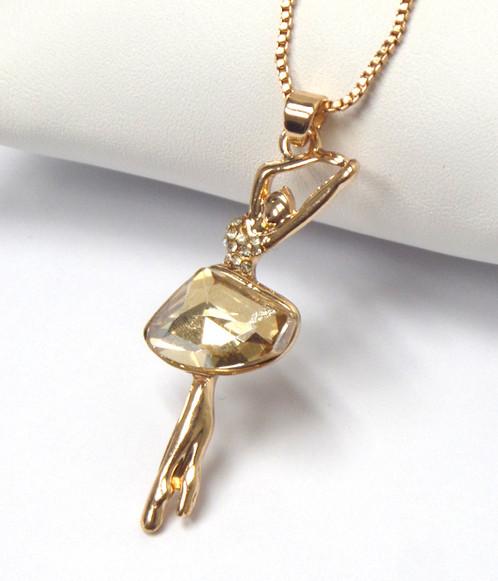 Ballerina necklace home jewelry by kez ballerina necklace aloadofball Choice Image