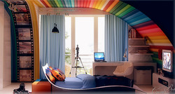 עיצוב חדר בני נוער
