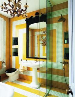 עיצוב אמבטיה צהוב