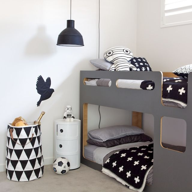 שחור לבן אפור- חדר ילדים