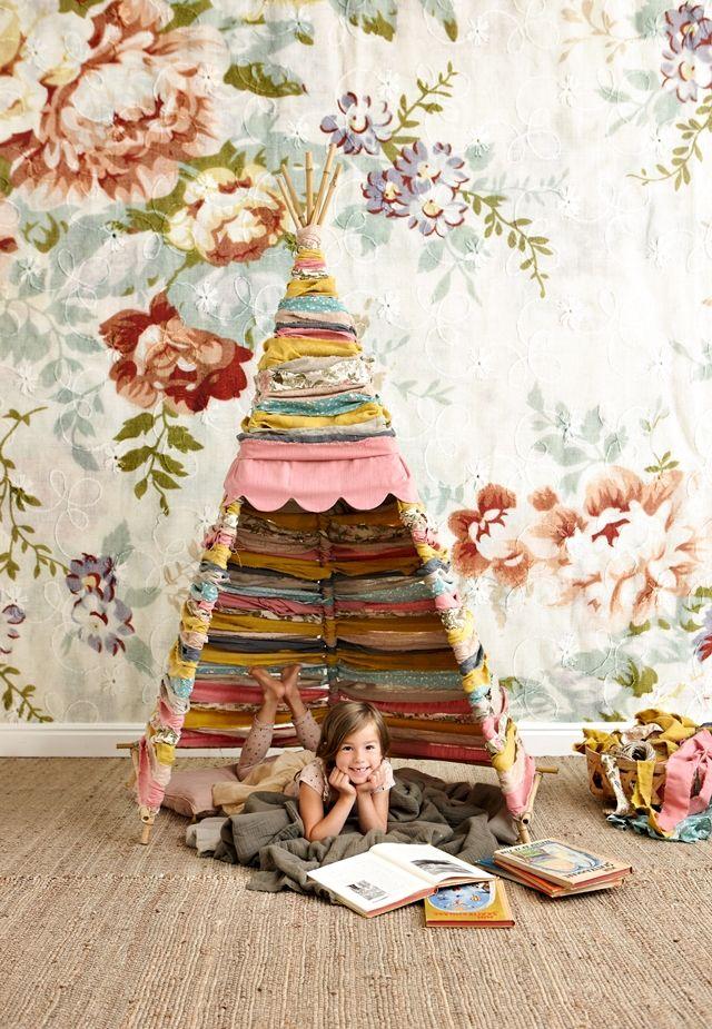 אוהל אינדיאני בחדר ילדים
