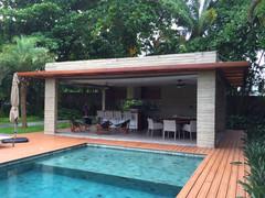 gazebo concreto tropical