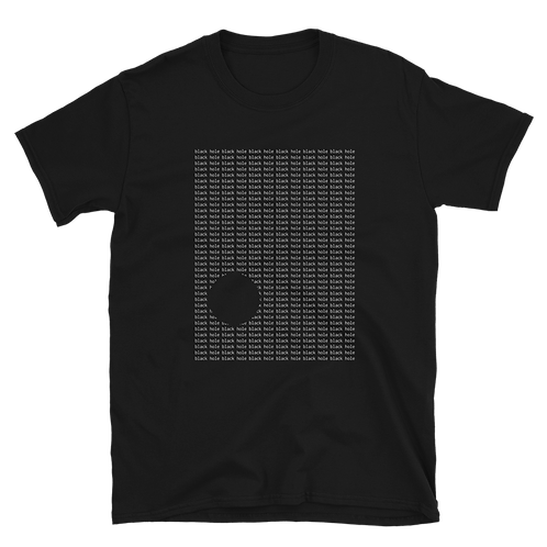 Black Hole Typography Tee