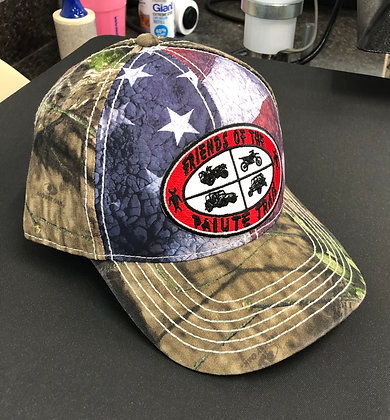 Outdoor Camo Cap with Flag Front SUS100