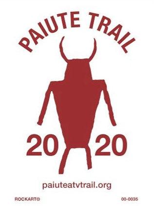 2020 Paiute Trail Sticker, white background