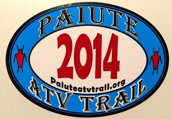 2014 Paiute Trail Sticker