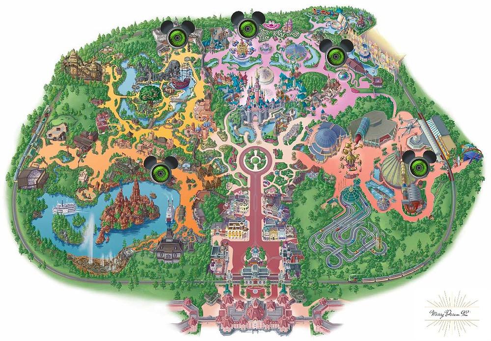 Emplacement des Stuios PhotoPass+ - Parc Disneyland  Paris