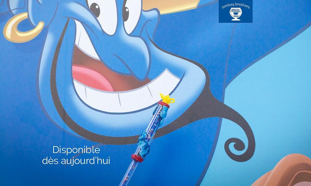 Baguette en edition limitée sortie à l'occasion du film Aladdin (Photo Twitter Arribas France)
