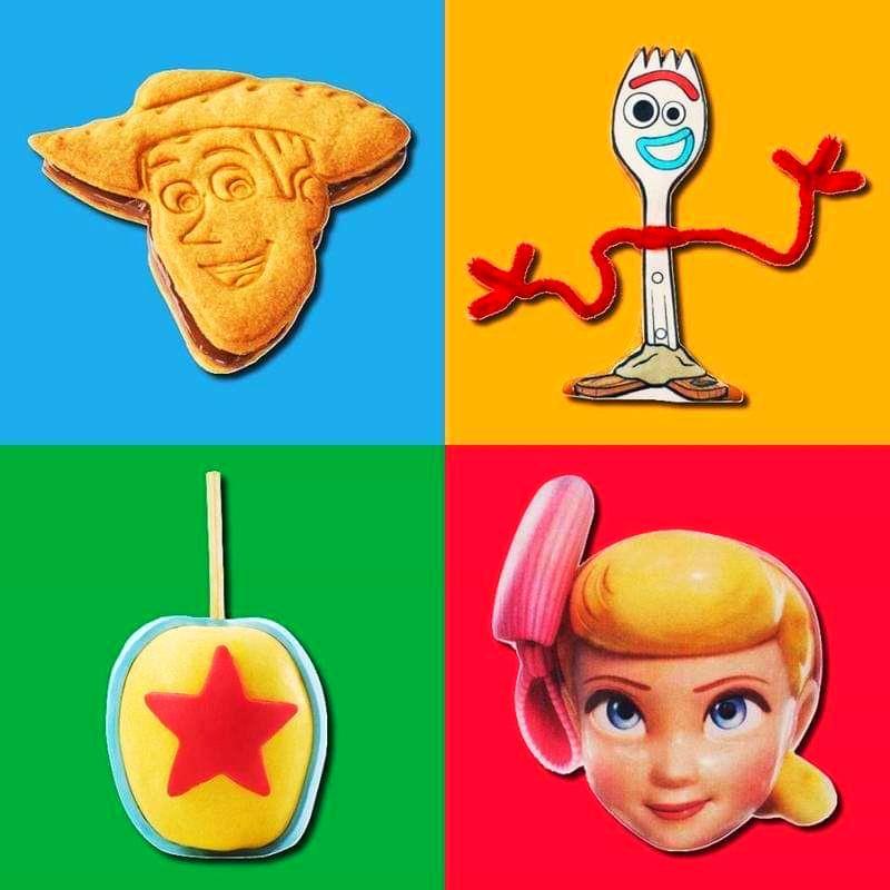 Visuels des gopurmandises disponibles lors des Toy Story Play Days