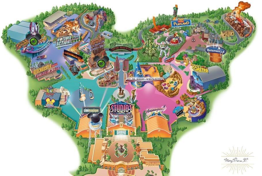 Emplacemement des Studios PhotoPass - Parc Walt Disney Studios - Disneyland Paris
