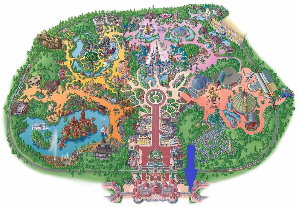 Accés piéton au Disneyland Hôtel Disneyland Paris