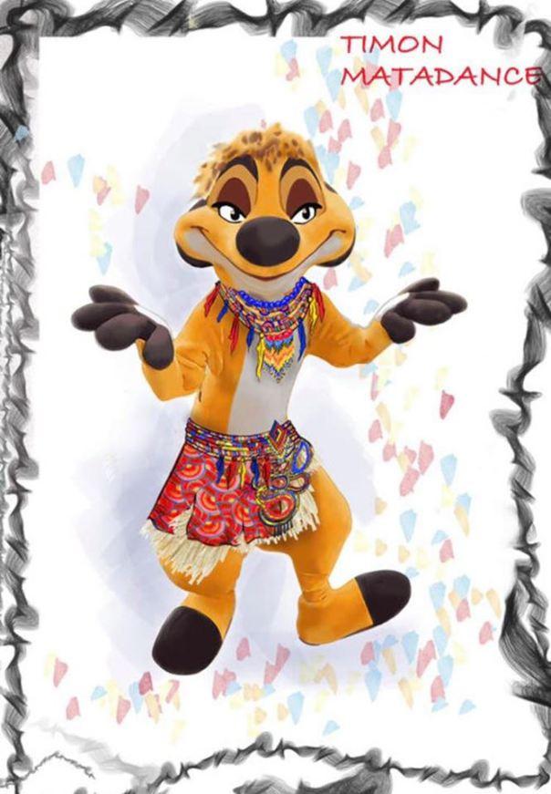 """Visuel du nouveau costume de Timon à l'occasion de l'animation """"Timon's Matadance"""""""
