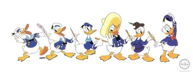Evoltion physique de Donald Duck (De 1931 à nos jours)