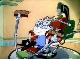 """Donald, en mauvaise posture dans le cartoon """"Modern Inventions"""" de 1937"""