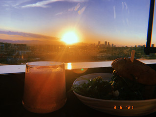 v i e w s : Sunset at The Jacquard Hotel