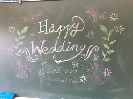 母校で結婚式