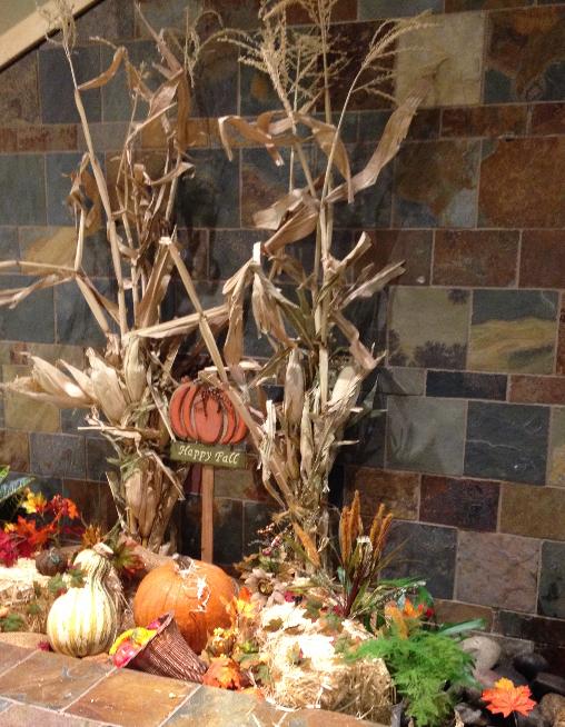 Fall decorations pumpkin