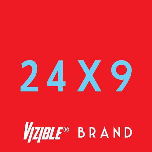 24 x 9 Vizible® Brand Full Color Yard Signs