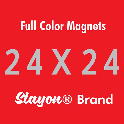 Stayon® Brand Car & Truck Magnets 24x24 PAIR