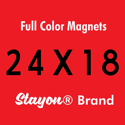 Stayon® Brand Car & Truck Magnets 24x18 PAIR