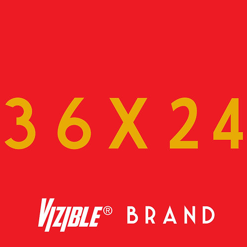 36x24 Vizible® Brand Full Color Yard Sign