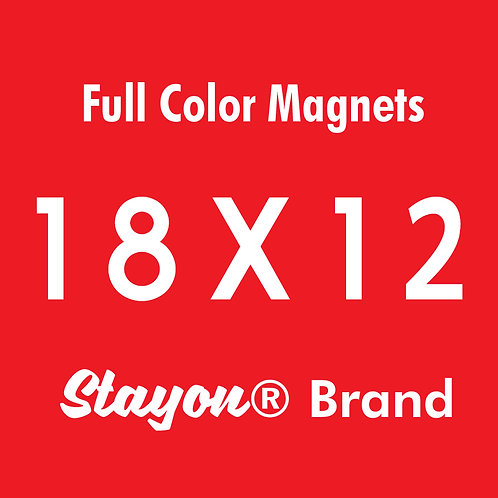 Stayon® Brand Car & Truck Magnets 18x12 PAIR