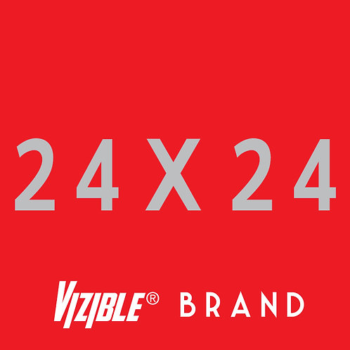 24 x 24 Vizible® Brand Full Color Yard Signs