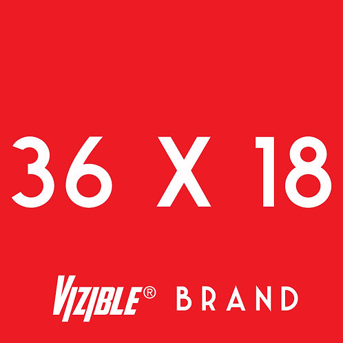 36x18 Vizible® Brand Full Color Yard Sign